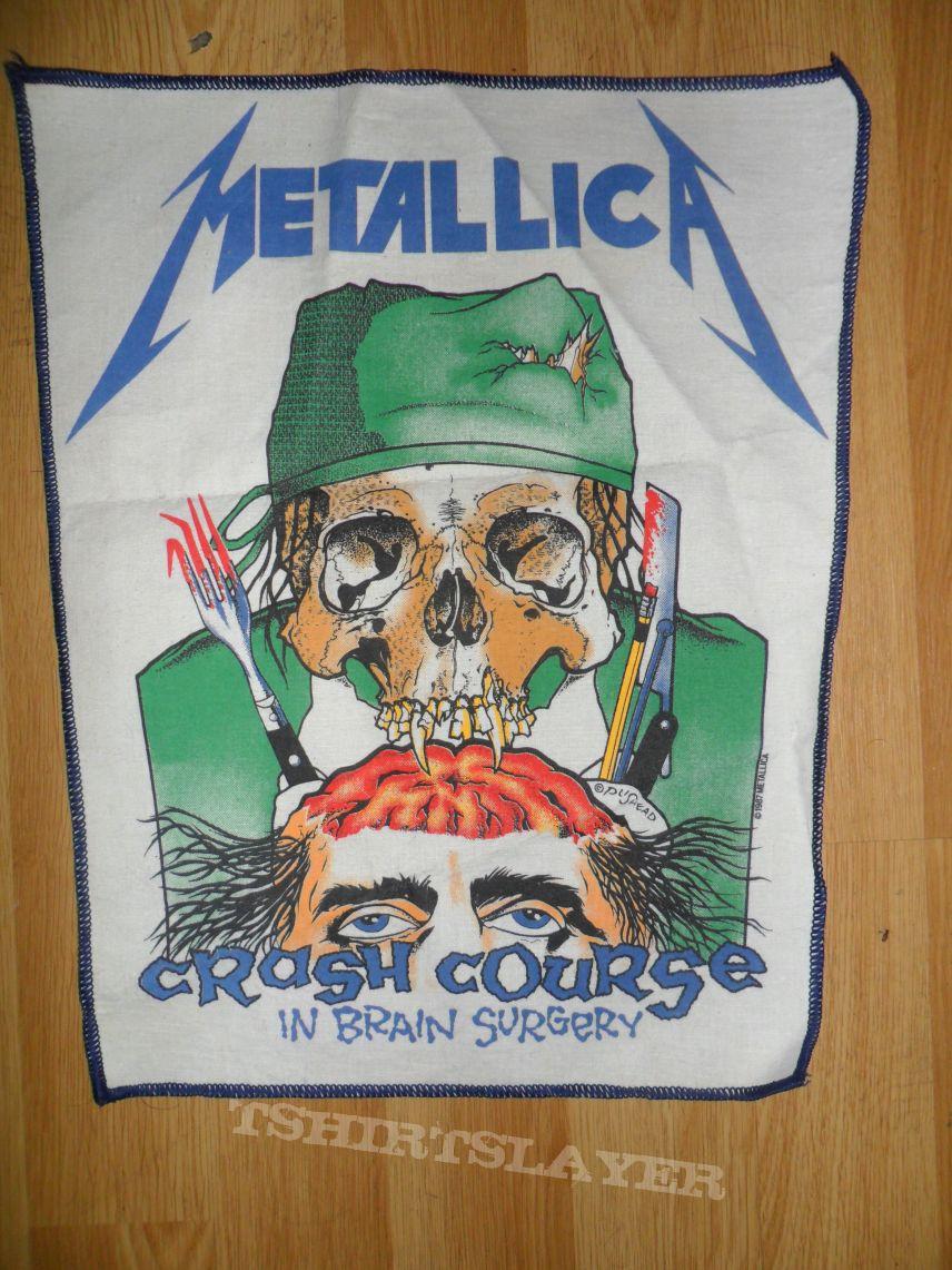 "Metallica ""crash course"" vintage back patch"