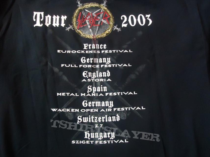 Slayer - Tour Shirts 2003/2004