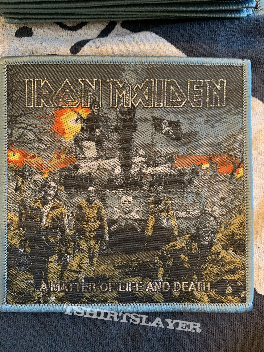 Iron Maiden- A Matter of Life and Death woven patches