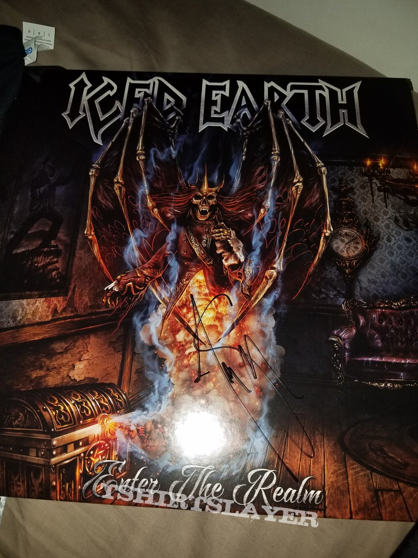 Iced earth enter the realm signed vinyl