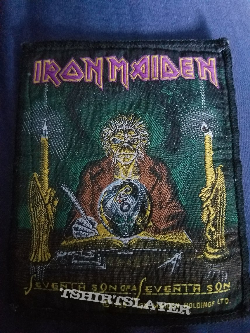 Iron maiden the clairvoyant/seventh son vintage patch