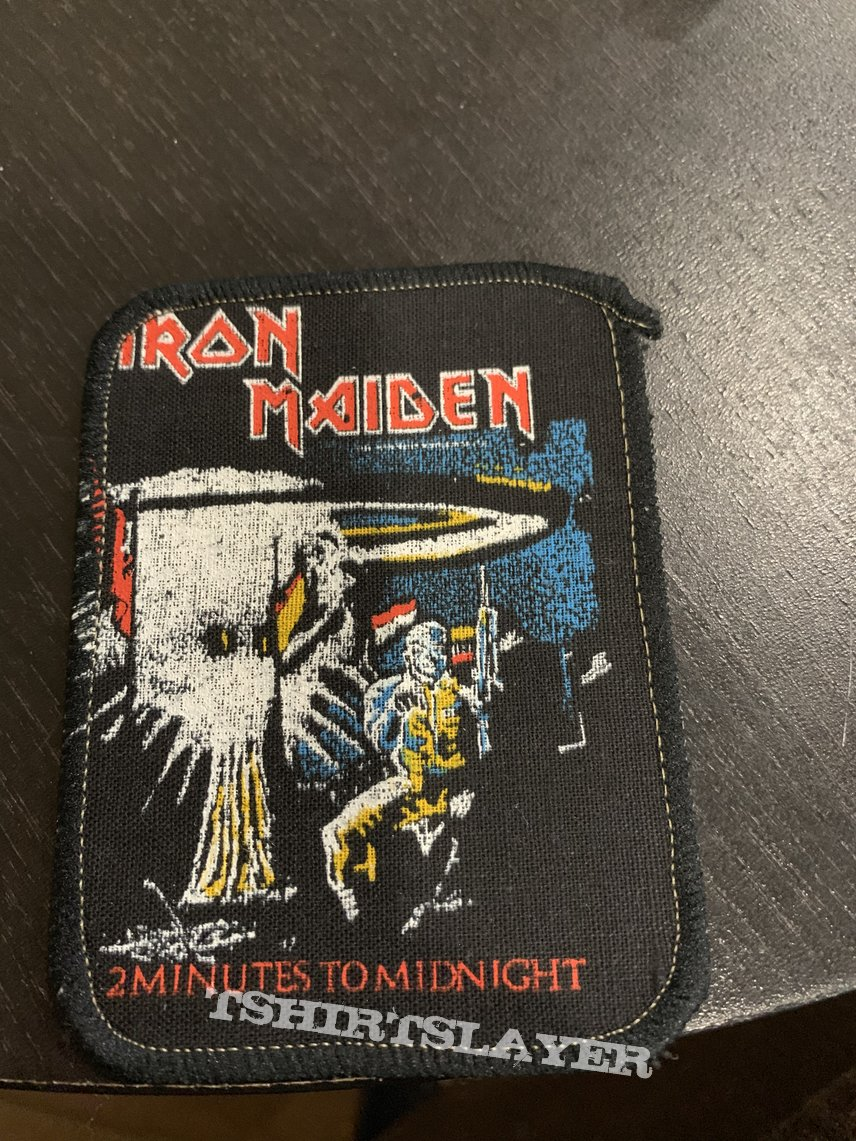 Iron Maiden - 2 minutes to midnight printed official vintage patch