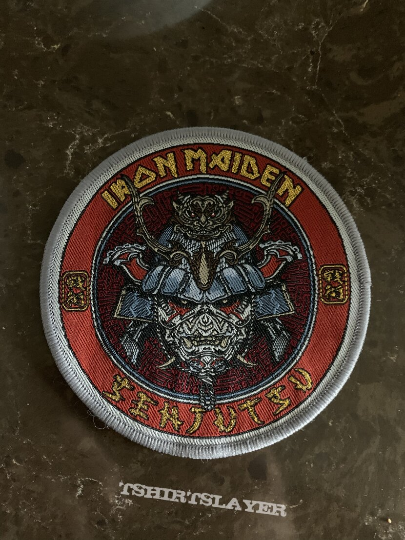 Iron Maiden Senjutsu Grey Border patch