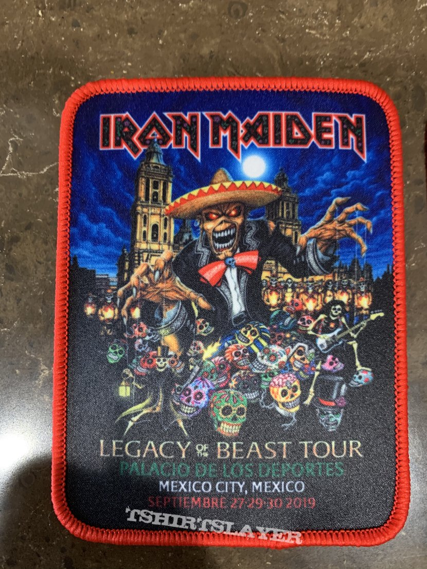 Iron Maiden - Legacy of the Beast Mexico Tour Patch