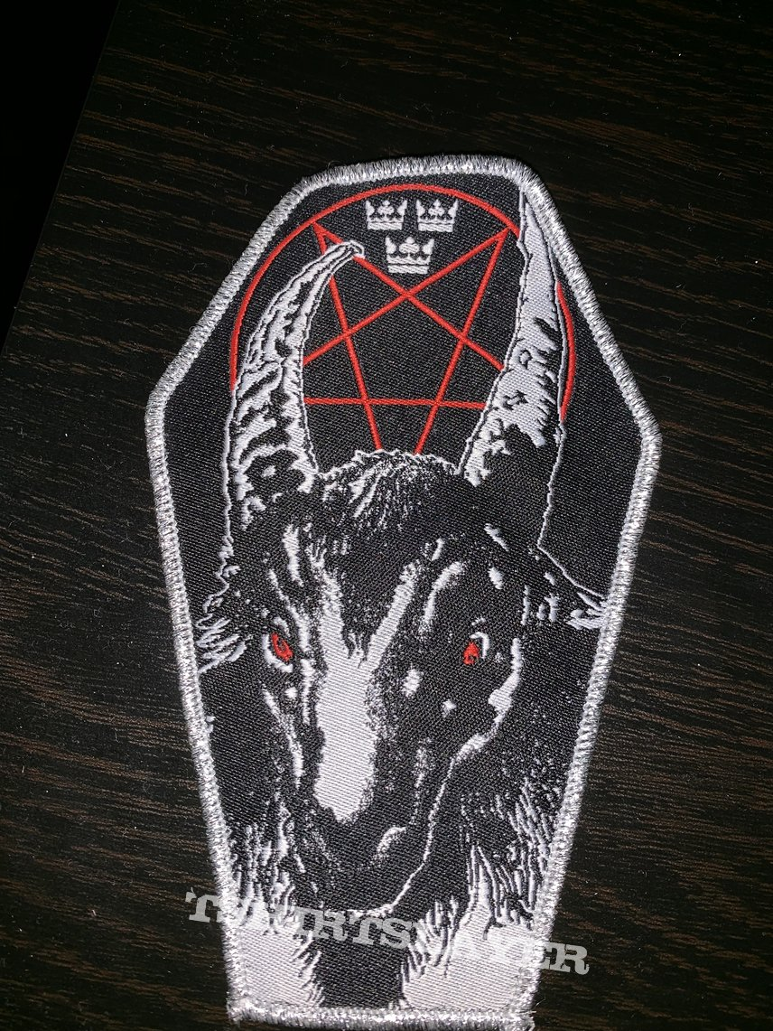 Bathory Swedish Hordes original coffin silver border patch