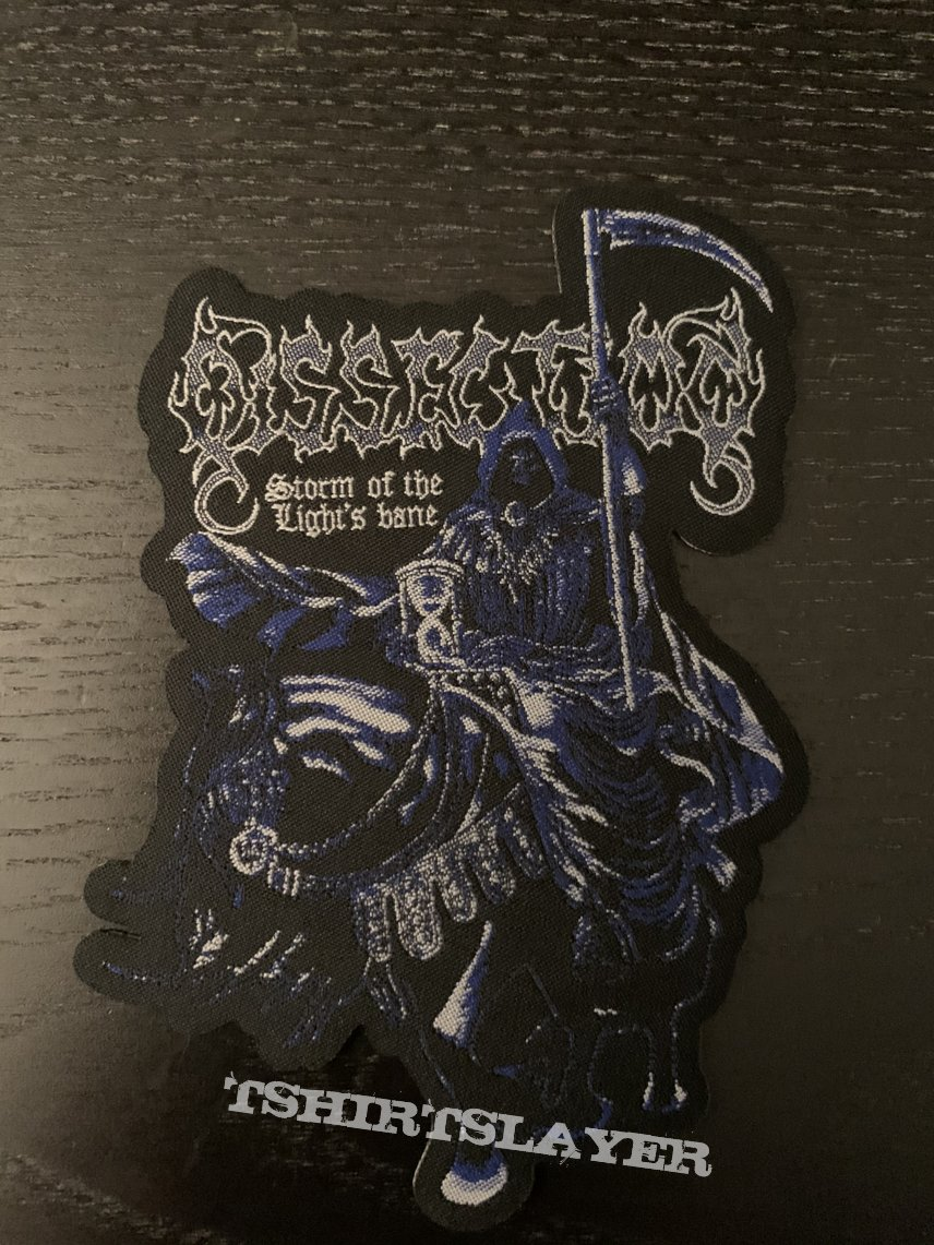 Dissection - storm of the lights bane official shaped patch (pull the plug patches edition)
