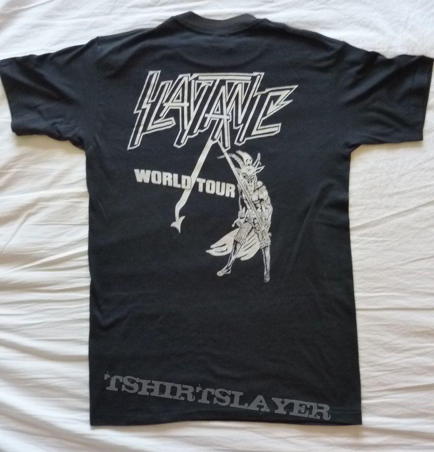 Slayer slaytanic wehrmacht tour shirt 1984