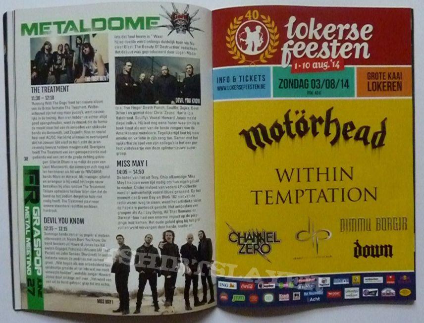 graspop metal meeting 2014 booklet