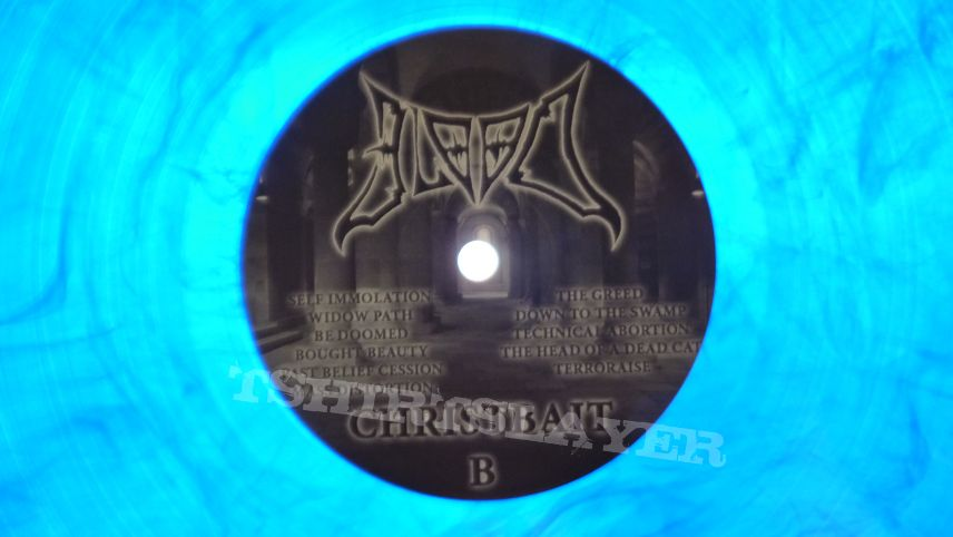 Blood– Christbait   blue  vinyl Rotten Roll Rex ‎– RRR 060, Final Gate Records ‎– FGR 018