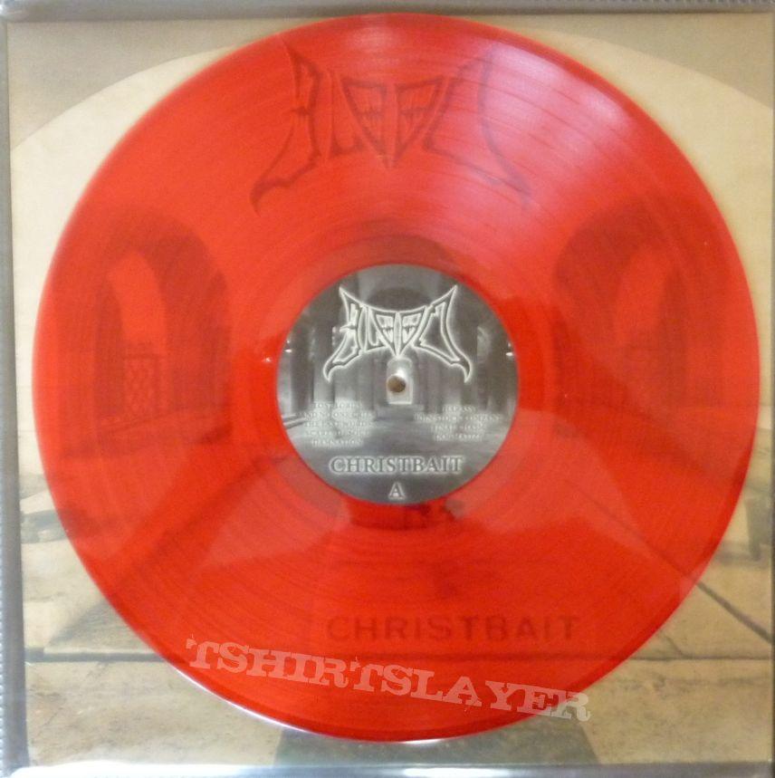 Blood– Christbait   red  vinyl Rotten Roll Rex – RRR 060, Final Gate Records – FGR 018