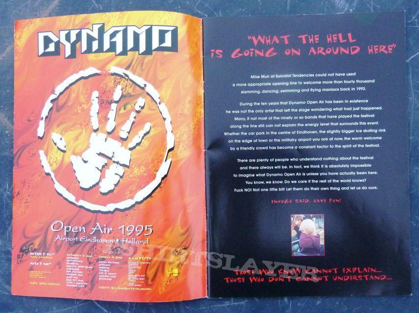 DYNAMO OPEN AIR 1995 35007, Absconded, Biohazard, Blitz Babies, Brotherhood Foundation, Crash Worship, Dog Eat Dog, Downset, Dub War, Earth Crisis, Eleven Pictures, Fear Factory, Grip Inc., Hate Squad, Horace Pinker, Life of Agony, Machine Head, Madball,