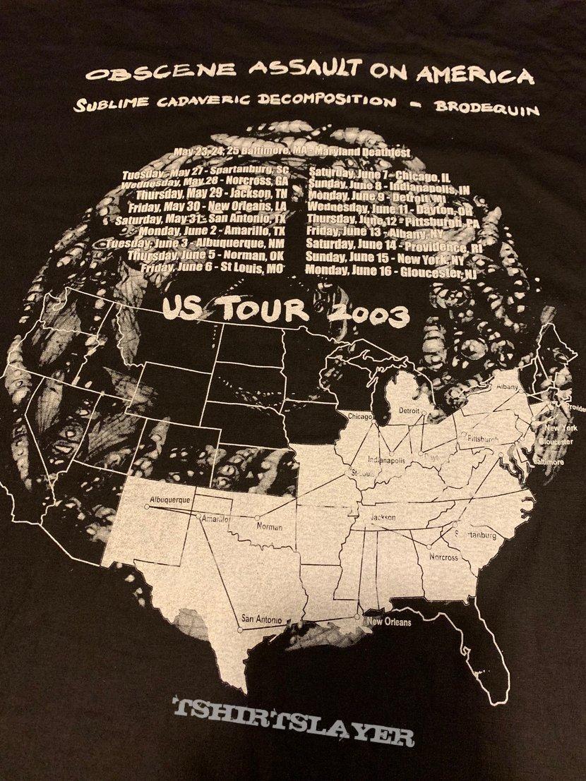 """Sublime Cadaveric Decomposition """"2 Tour"""" Longsleeve"""