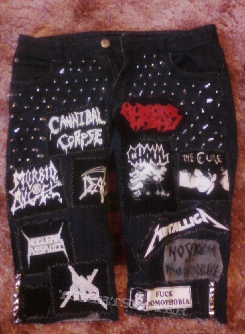 Patched shorts