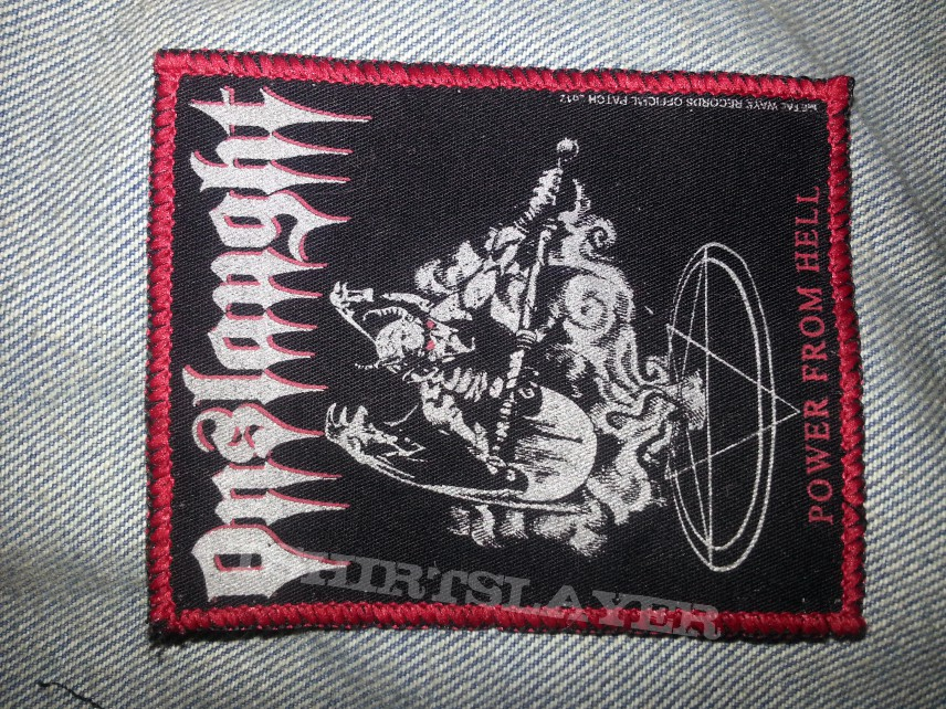 Onslaught power from hell backpatch (standard size) www.