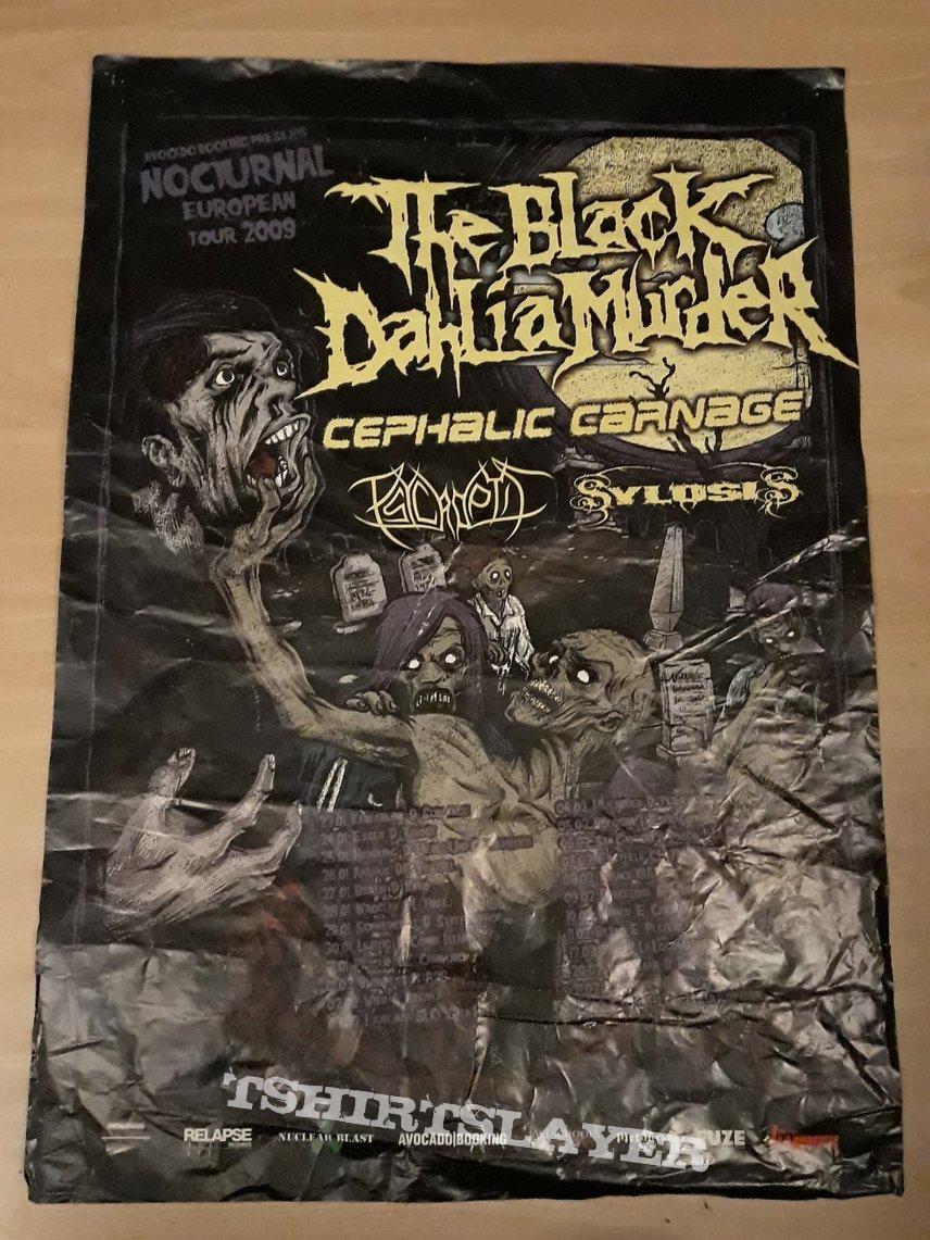 Nocturnal EU tour 2009 poster: The Black Dahlia Murder, Cephalic Carnage,..