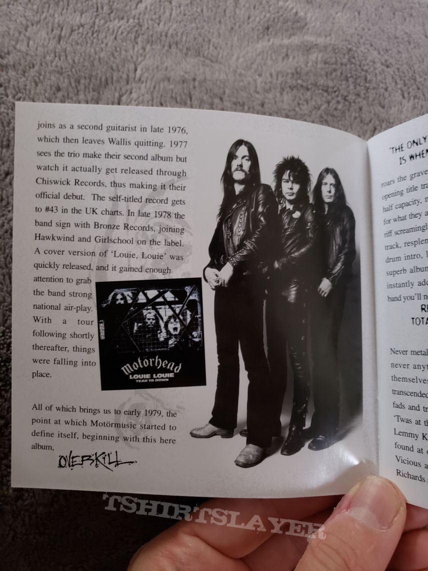 Motörhead - Overkill 2004 Sanctuary Records CD reissue