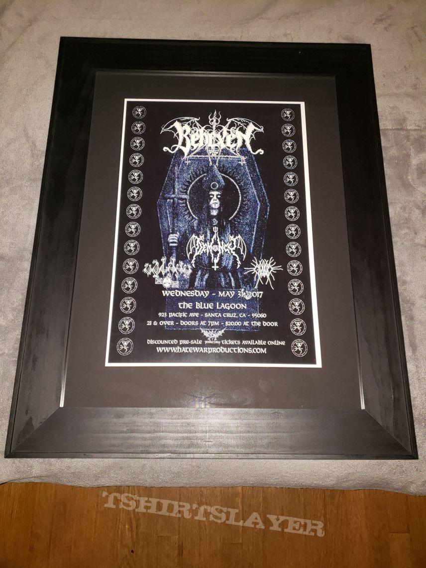 Framed Demoncy & Behexen 2017 Santa Cruz show poster