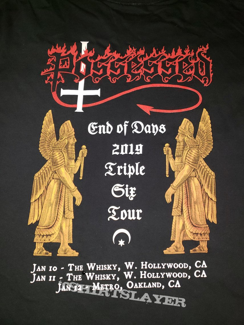 XXL Possessed - End of Days 2019: Triple Six Tour longsleeve