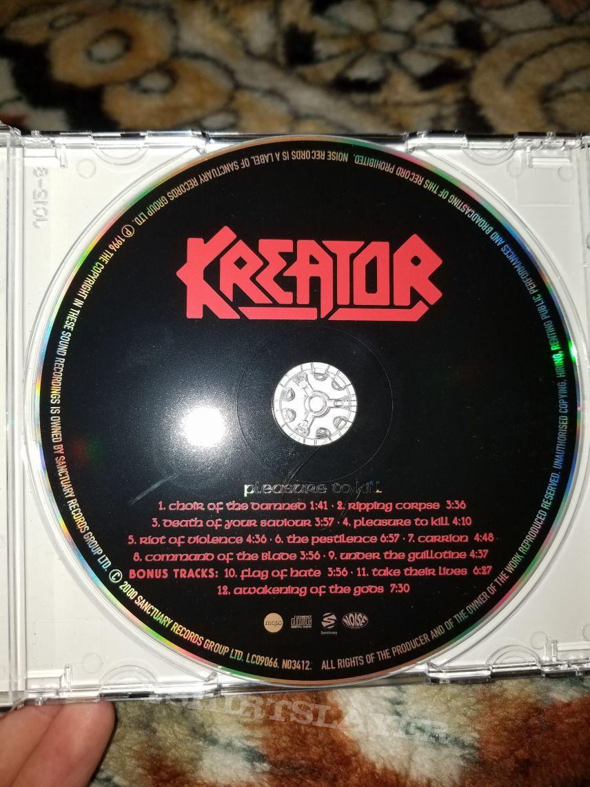 2000 Sanctuary Records CD reissue of Kreator's Pleasure to Kill