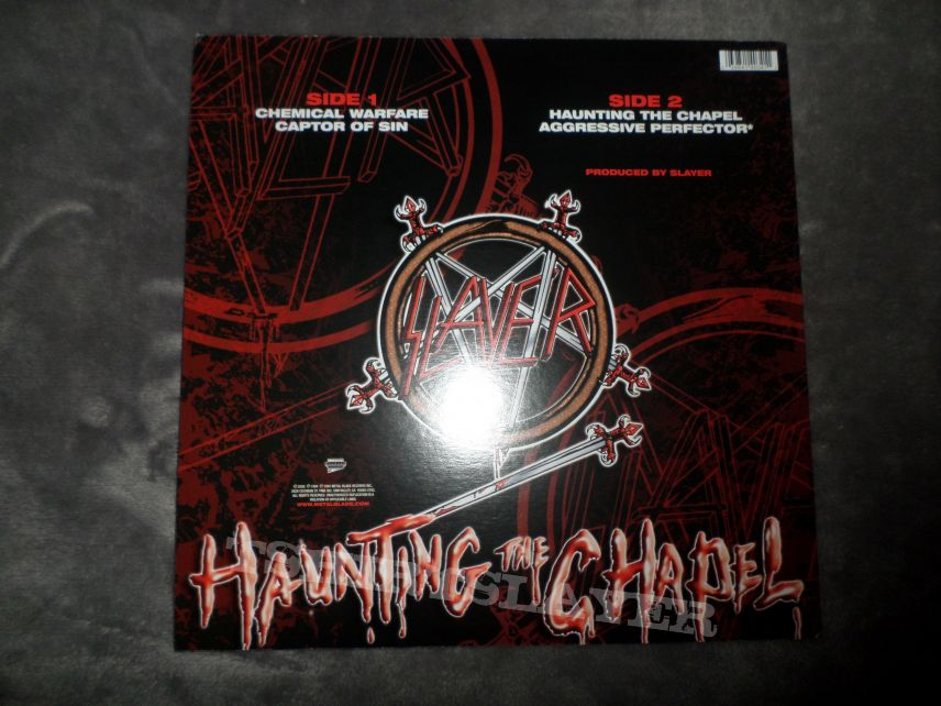 "'08 Metal Blade 12"" red & clear splatter vinyl reissue of Haunting the Chapel."