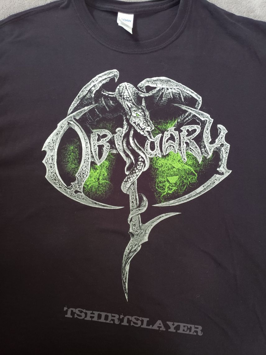 Obituary - North American Take Over 2018 tour t-shirt