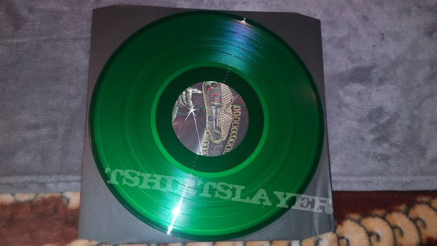 "Listenable 2015 reissue of Satan's Court in the Act on transparent 12"" green vinyl."