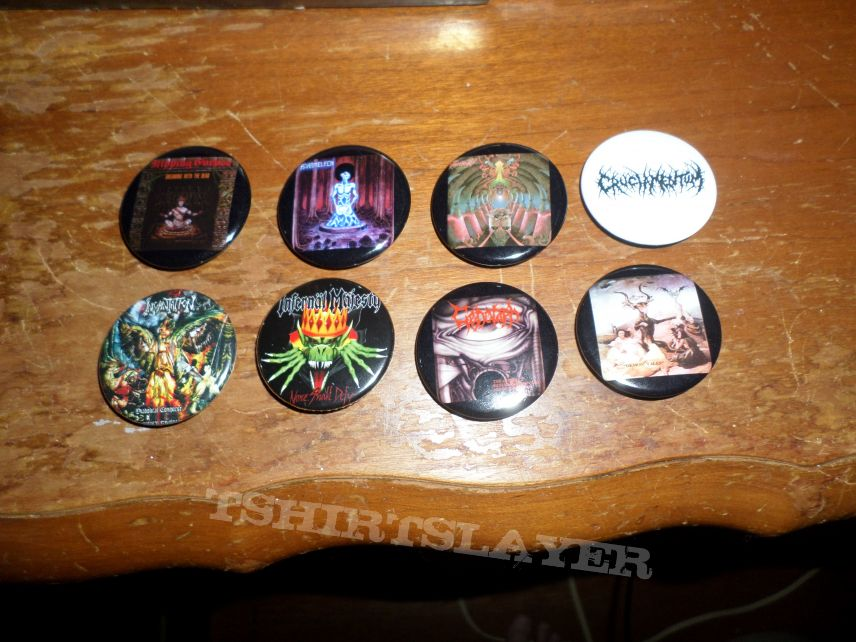 Buttons for my Death Metal vest.