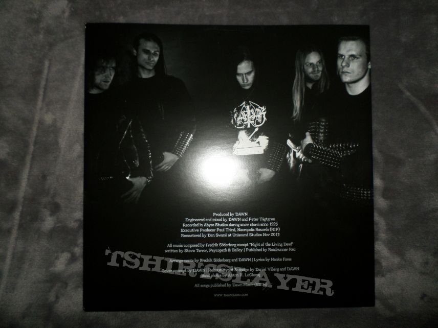 "2014 Century Media reissues of Dawn's Sorgh på svarte vingar fløgh & Slaughtersun (Crown of the Triarchy) on 12"" silver & gold vinyl."