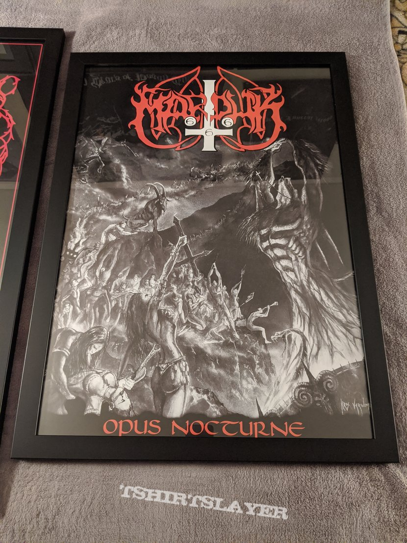 Framed Marduk and Immortal posters