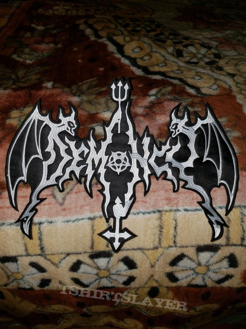 Demoncy shaped logo back patch