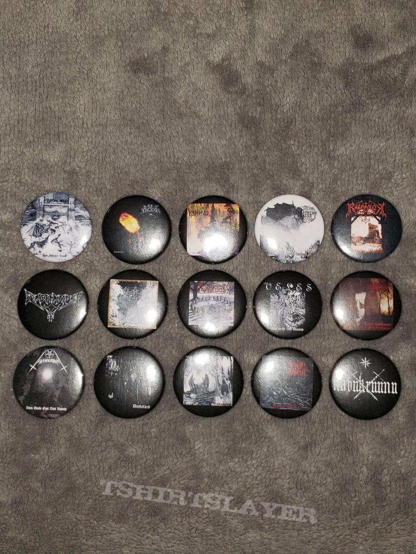 Custom Black Metal buttons