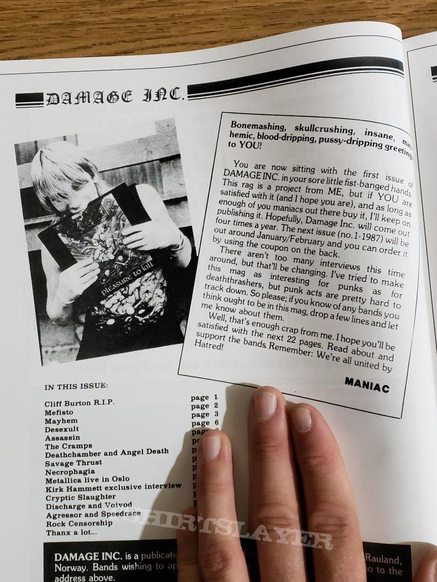 Ultra Damaged - Damage Inc. zine anthology: 1985 - 2017