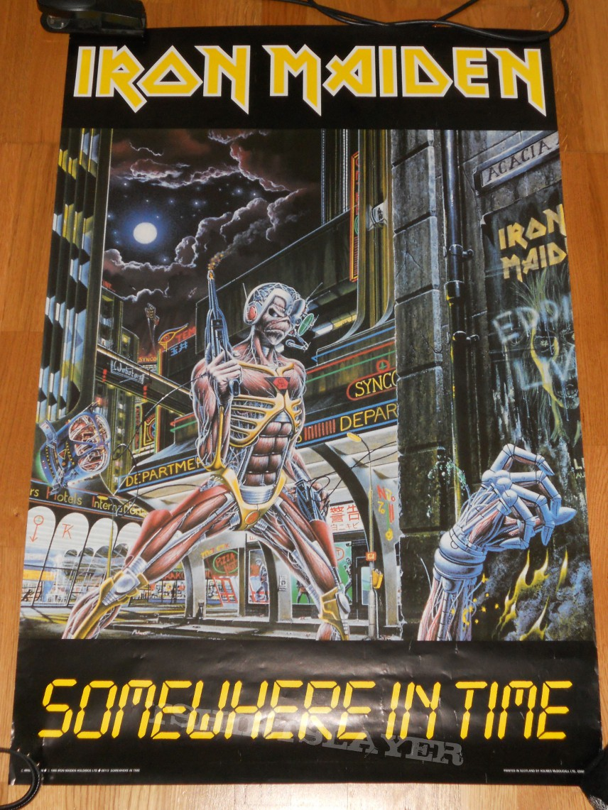 "Iron Maiden ""somewhere in time"" poster 