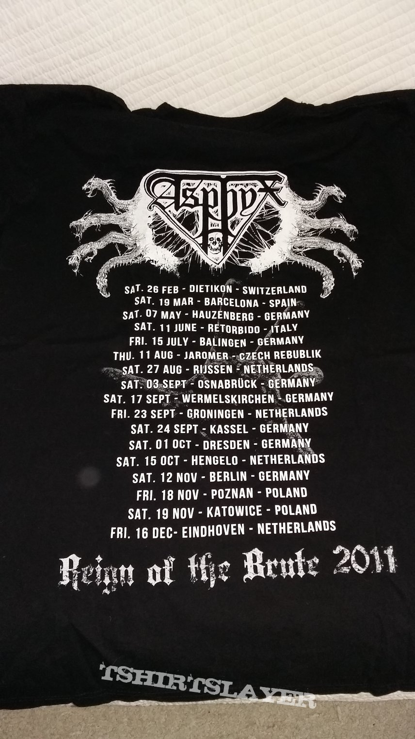 "Asphyx ""reign of the brute"" shirt"