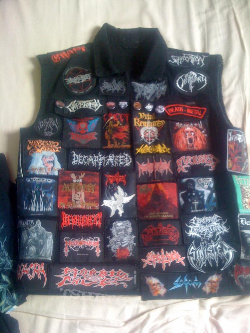 battle jacket only death metal tshirtslayer tshirt and