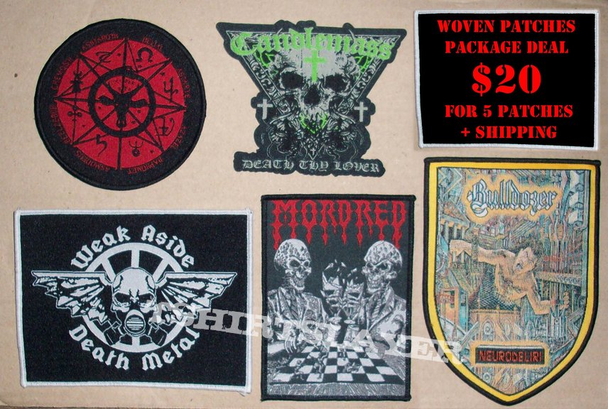 Woven Patches SET (5 patches in 1 package)