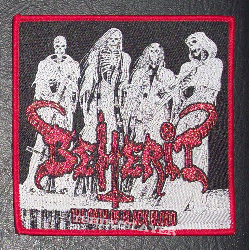 BEHERIT Woven Patch Red Border