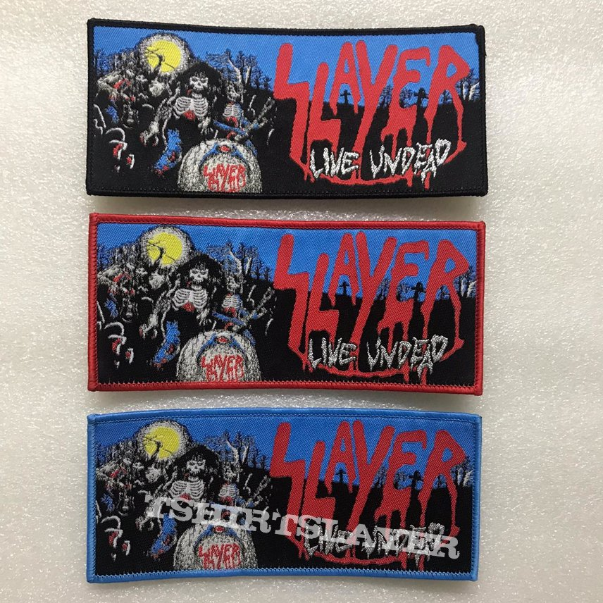 Slayer 'Live Undead' Woven Patch