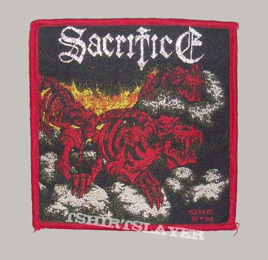 Sacrifice Woven Patch Red Border