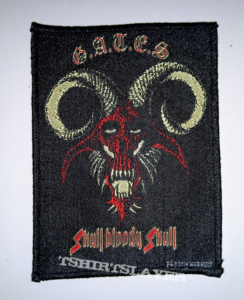 G.A.T.E.S. ' Skull Bloody Skull: Woven Patch