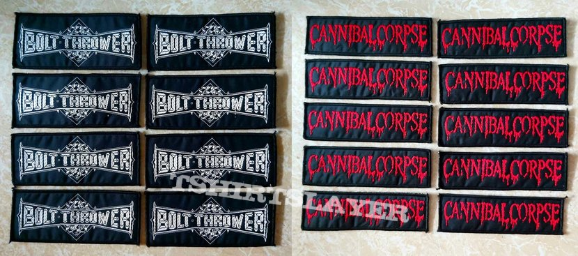 Bolt Thrower & Cannibal Corpse Logo Woven Patch