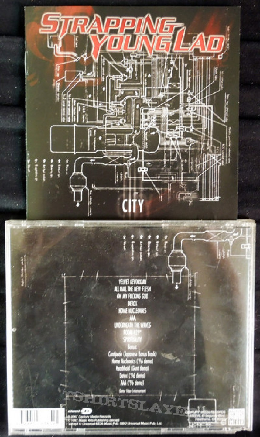Strapping Young Lad - City CD (Signed)