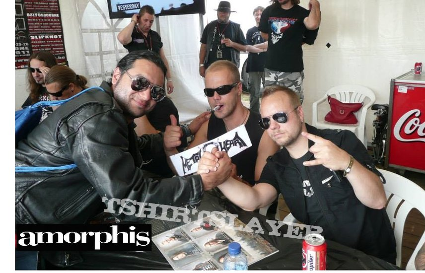 Amorphis - Signed Postcard at Graspop Metal Meeting 2011