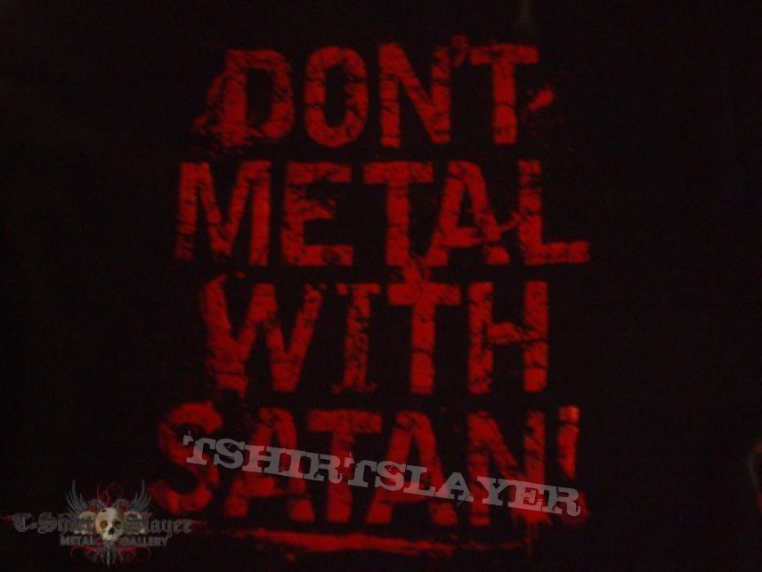 "TShirt or Longsleeve - BLOOD FREAK ""SATANIC GOAT/DONT METAL WITH SATAN"" late 2000s band shirt"