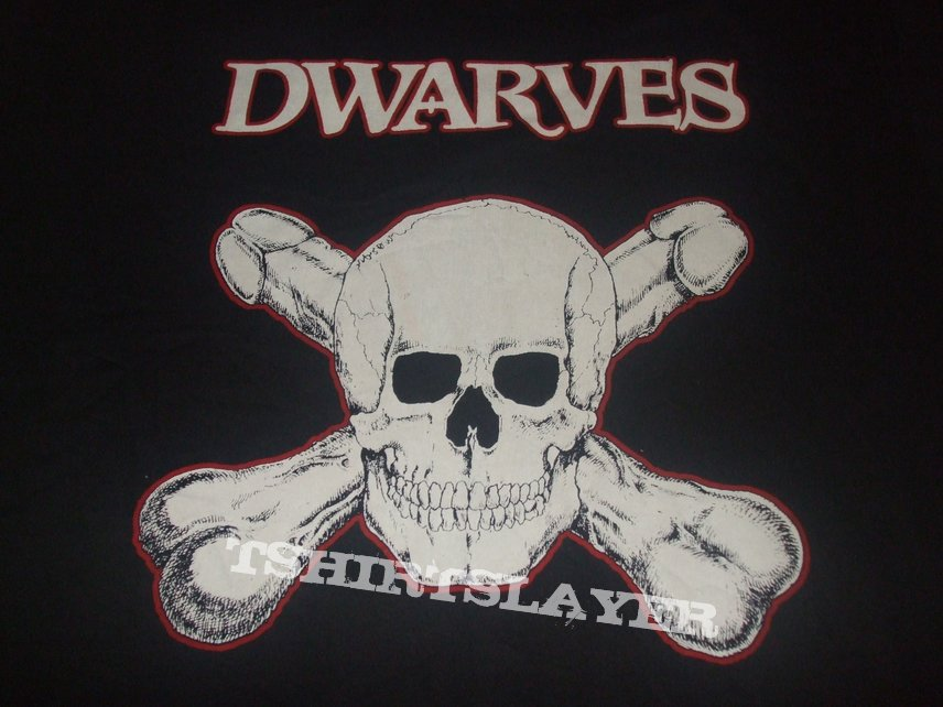 """THE DWARVES """"Skull and Crossboners"""" Greedy Records band shirt"""