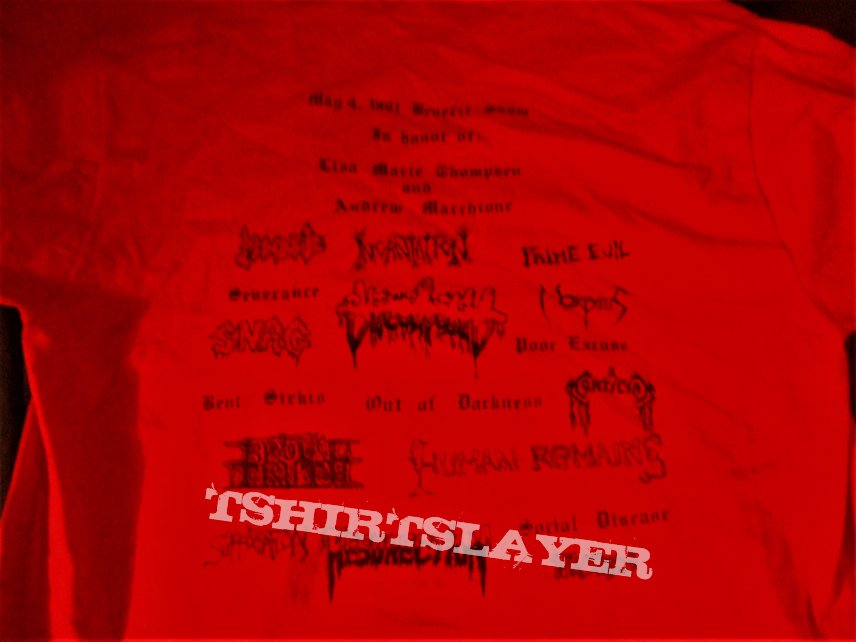 "ROT GORE PRODUCTIONS ""1991 NYC Deathfest"" Benefit show shirt"