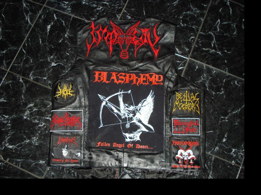 Battle Jacket - Blasphemy/Impiety Vest; Baphomet-Commanding for Death