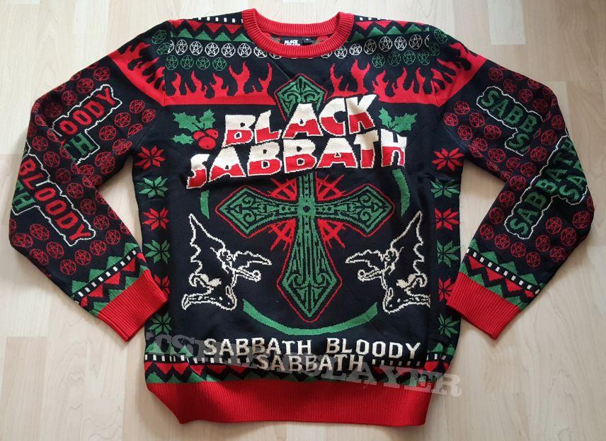 Black Sabbath Christmas Sweater.Black Sabbath Sabbath Bloody Sabbath Christmas Sweater
