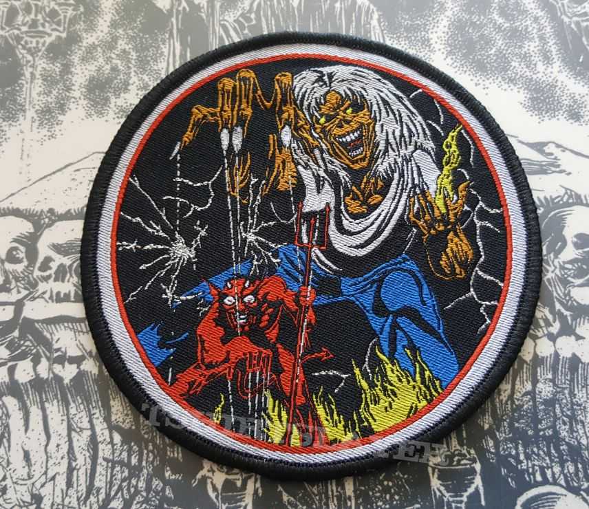 iron maiden number of the beast patch tshirtslayer tshirt