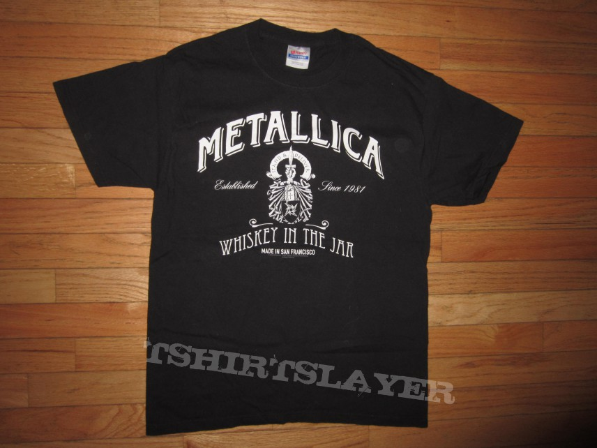 2005 Metallica Whiskey In The Jar Md Shirt Tshirtslayer Tshirt And